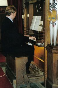 JK at the organ